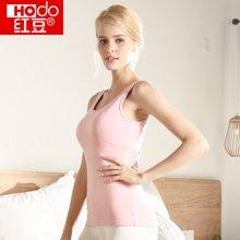 Hodo/红豆 新款女士带罩杯胸垫背心内衣圆领修身打底衫薄款保暖秋衣上衣 Q-HD6N208