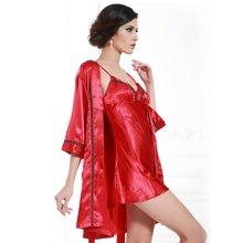 尼特名 时尚性感睡袍L096640R(不含吊带裙)