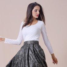 【时尚百搭蕾丝打底衫】尼特名 时尚蕾丝百搭外穿式打底衫6色可选 M17V