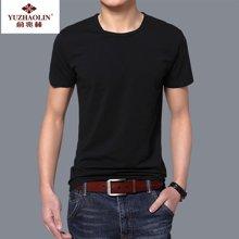 【两件装】俞兆林圆领纯色时尚罗纹短袖衫男士T恤 打底衫 YZL710003
