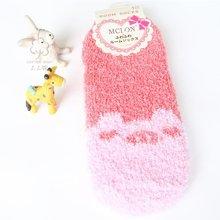 尼特名 2双装 女款时尚加厚珊瑚绒保暖袜舒适超柔秋冬女士袜子W0005/6