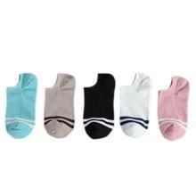 俞兆林 [5双混色装]春夏薄款小清新学院风条纹款女袜棉袜透气船袜 YZLGC022TH