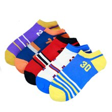 【五条装】俞兆林 数字运动风男船袜 五双装棉袜 MS0408