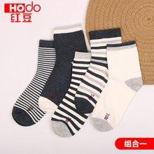 红豆男童中筒袜儿童棉质短袜小学生中大童宝宝男孩袜子A类透气更舒适 H8W705