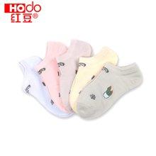 红豆儿童棉质短袜夏季春秋薄款袜子女童船袜  WD6002