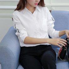 亿族  2018春秋装新款韩版学院风百搭显瘦外穿打底衬衣