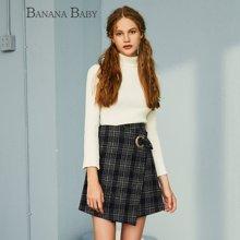 BANANA BABY新款毛衫女高领套头打底针织衫喇叭袖毛衣女D64M044