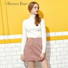 BANANA BABY新款韩版高领套头长袖针织衫女时尚百搭毛衣D64Z666