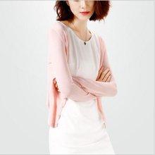 pengla2017爆款韩版大码纯色针织衫开衫女长袖空调衫毛衫披肩F040