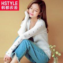 韩都衣舍 新品 韩版女装春新款时尚修身显瘦毛针织衫
