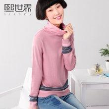 熙世界 秋季新款套头高领修身长袖直筒毛衣女装打底衫193LA351