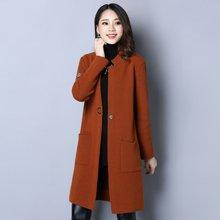 百依恋歌 秋季新款女装韩版宽松显瘦中长款字母针织衫针织外套 ZCS006
