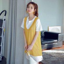 韩都衣舍2017韩版女夏装新款显瘦两件套短袖连衣裙