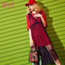 妖精的口袋P仙女法则夏装宽松网纱吊带连衣裙女中长裙