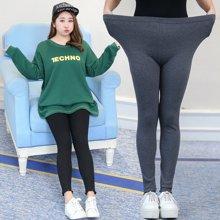 XIMANU 胖mm加肥加大码女装高腰弹力裤大码打底裤休闲裤X6618