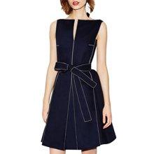Tobebery2017夏季新款欧美一字领连衣裙女装无袖修身显瘦A字裙  7天内发货