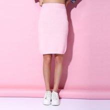 百依恋歌 新款韩版时尚高腰修身纯色半身裙女 B16F053