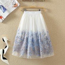 植木直新款高腰显瘦中长款半身裙1609056