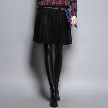 熙可儿加绒女皮裤冬装打底裤女小脚铅笔裤假两件裙裤