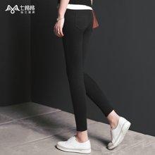 七格格 新款纯色 三种裤长可选显瘦打底裤