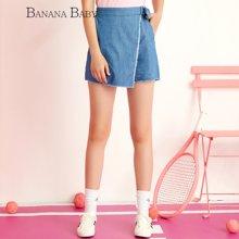 BANANA BABY韩版新款高腰牛仔短裤修身显瘦女装薄款热裤D62K205
