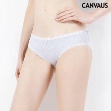 CANVAUS2018新款纯色蕾丝边打底棉质透气低腰三角裤内裤女装UP21A