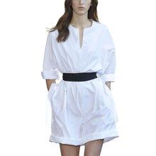 tobebery欧美女装2018春夏季新款职业OL通勤白色两件套宽松显瘦短裤套装