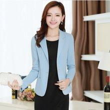 亿族 2017春秋新款小西装女外套韩版大码短外套修身显瘦女士单件外套W22328