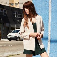 BANANA BABY新款韩版宽松休闲西装外套中长款女装上衣潮B51W009