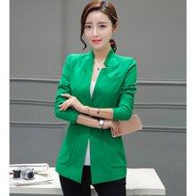 亿族 2017新款韩版修身OL休闲大码女装小西服长袖纯色小西装外套 55364A2860