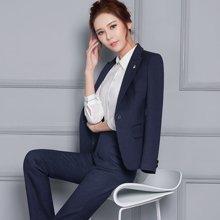 亿族 2017新款时尚商务修身长袖西服职业装套裤套裙西装正装 YZA813