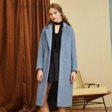BANANA BABY新款韩版羊毛呢子大衣中长款毛呢外套女上衣C54D276