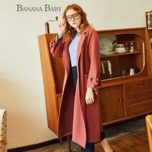 BANANA BABY新款韩版个性双面呢外套女修身纯羊毛呢大衣D74D816