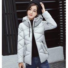 亿族 2017冬季新款时尚立领连帽棉服纯色女装棉衣羽绒棉服外套