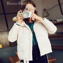 BANANA BABY韩版简约羽绒服女短款时尚休闲立领羽绒外套D74Y818