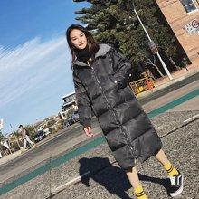 新品 七格格 羽绒服女士中长款2017新款韩国过膝冬季潮韩版加厚时尚东大门