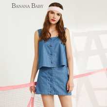 BANANA BABY韩版新款纯棉套装时尚休闲显瘦两件套裙女装D62T208