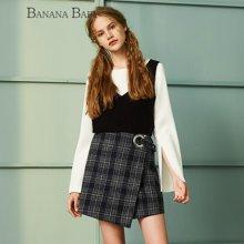 BANANA BABY新款个性喇叭袖时尚套装女百搭修身两件套潮D64T051