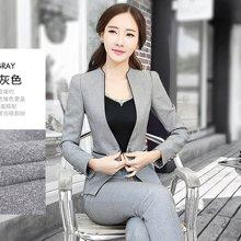 亿族 新款职业银行酒店气质女套装(上衣+裤子)13123458