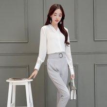 百依恋歌 新款韩版时尚修身职业衬衫套装女 BL7707