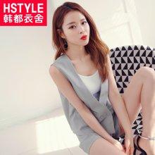 韩都衣舍2018韩版女装夏装新款纯色显瘦两件套时尚套装JT6700槿
