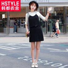 韩都衣舍2018夏季新款女吊带半身裙短裙套装裙两件套时尚休闲韩版