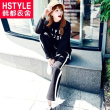 韩都衣舍2018韩版女装春装新款长袖长裤潮chic时尚套装GJ7190茆