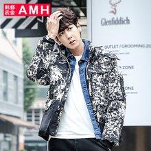 AMH 男装韩版 2016冬季新款外套青年男潮休闲加厚短款羽绒服男士輣