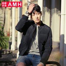 AMH 男士冬季外套2016新款 韩版潮流加厚羽绒服男短款青年棒球服煷