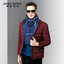 迪仕尼奴冬季新品男羽绒服短款商务休闲立领外套男上衣保暖8050G
