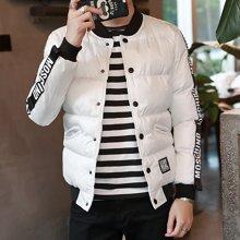 史克维斯冬季新品 时尚棒球领男士棉衣 轻薄款韩版棉袄修身外套棉服M08