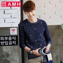 AMH 男装韩版 2016冬装新款时尚修身青年潮男长袖套头毛衣