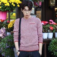 AMH 男装韩版 2016秋季新款修身潮时尚针织衫男套头毛衣