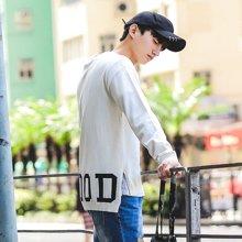 AMH男装韩版2018春季青年修身圆领字母男长袖针织衫NZ6267琳
